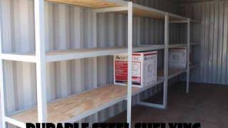 Custom container 20' tool shed