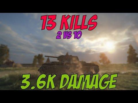 World of Tanks - KV-220-2 - 13 Kills - 3600 Damage - 2 vs 10