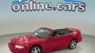 G98969ZP Used 1997 Ford Mustang Cobra RWD 2D Convertible Red Test Drive, Review, For Sale
