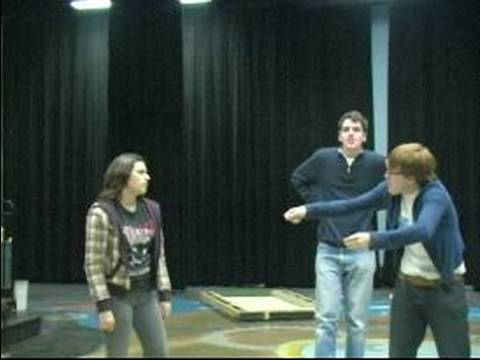 High School Improv Comedy Games : Playing Revolving Door Improv Game: Pt 1