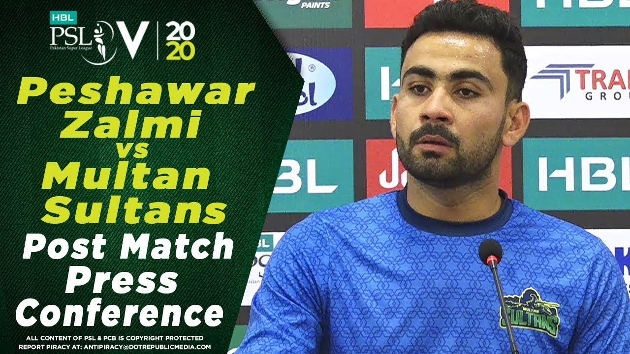 Khushdil Shah Post Match Press Conference | Peshawar Zalmi vs Multan Sultans | HBL PSL 2020
