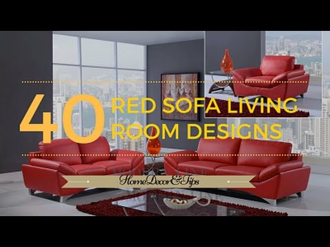 Red Couch Living Room Photos Set Up Furniture Large Sofa Decorating Ideas Youtube