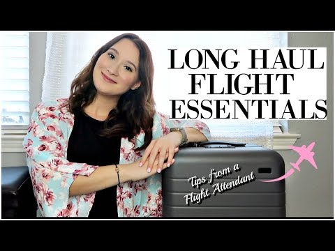 LONG HAUL FLIGHTS   What I Pack + Travel Essentials Tips From A Flight Attendant