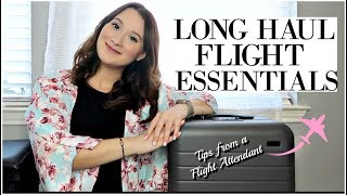 LONG HAUL FLIGHTS | What I Pack + Travel Essentials|Tips From A Flight Attendant
