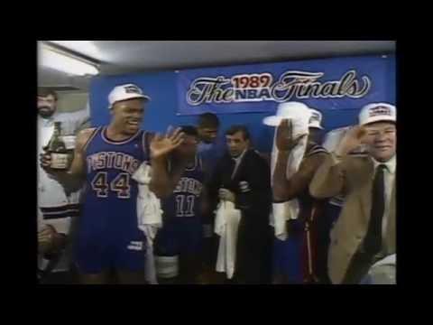 Detroit Pistons - 1989 NBA Championship Celebration