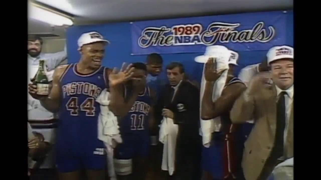 sports shoes 8ef1d 170ad Detroit Pistons - 1989 NBA Championship Celebration