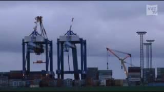 Schwerer Unfall auf dem Containerterminal in Bremerhaven