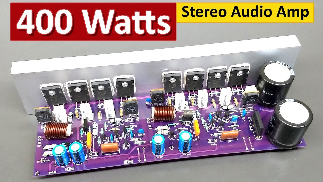 400 watts stereo audio amplifier board diy 2sc5200 2sa1943 share project pcbway [ 1280 x 720 Pixel ]