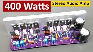 400 Watts Stereo Audio Amplifier Board DIY 2SC5200+2SA1943 Transistor ( Hindi ) ELECTRO INDIA