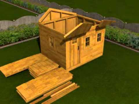 Outdoor Living Today Shed Assembly   YouTube