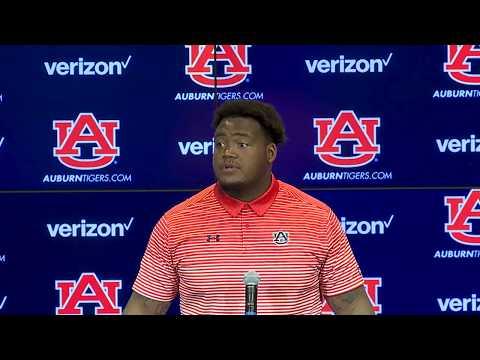 Auburn Offensive Guard Marquel Harrell Discusses Preseason Camp