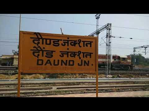 Swarna Jayanthi Express Loco Change and reversal at Daund Junction | Indian Railways