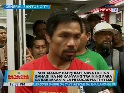 Pacquiao, nasa huling bahagi na ng kanyang training para sa bakbakan nila ni Lucas Matthysse