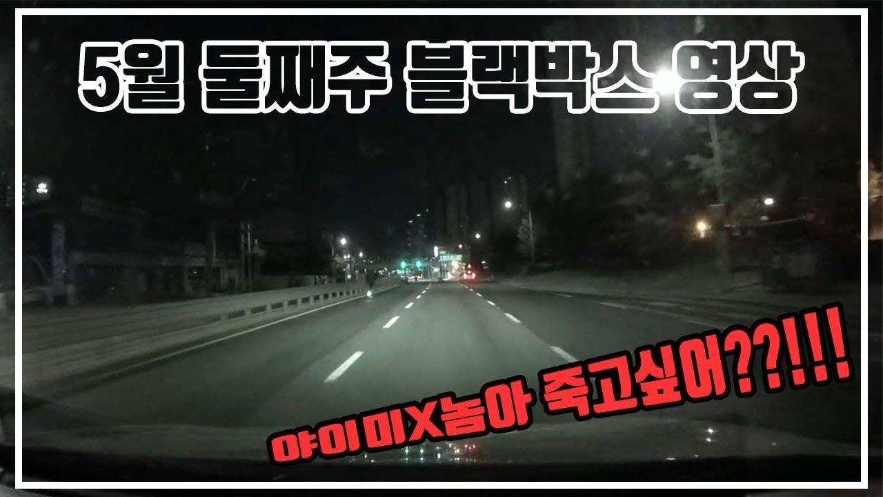 밤 도로에 미X 킥보드..왜 이럴까 정말..(5월 둘째주 블랙박스 영상)