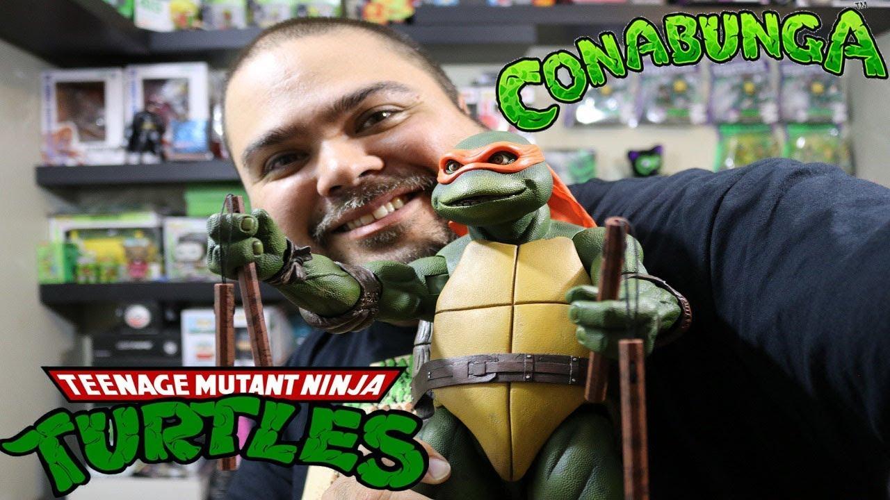 NECA Teenage Mutant Ninja Turtles 1990 Movie Baby - 1//4 Scale Action Figures
