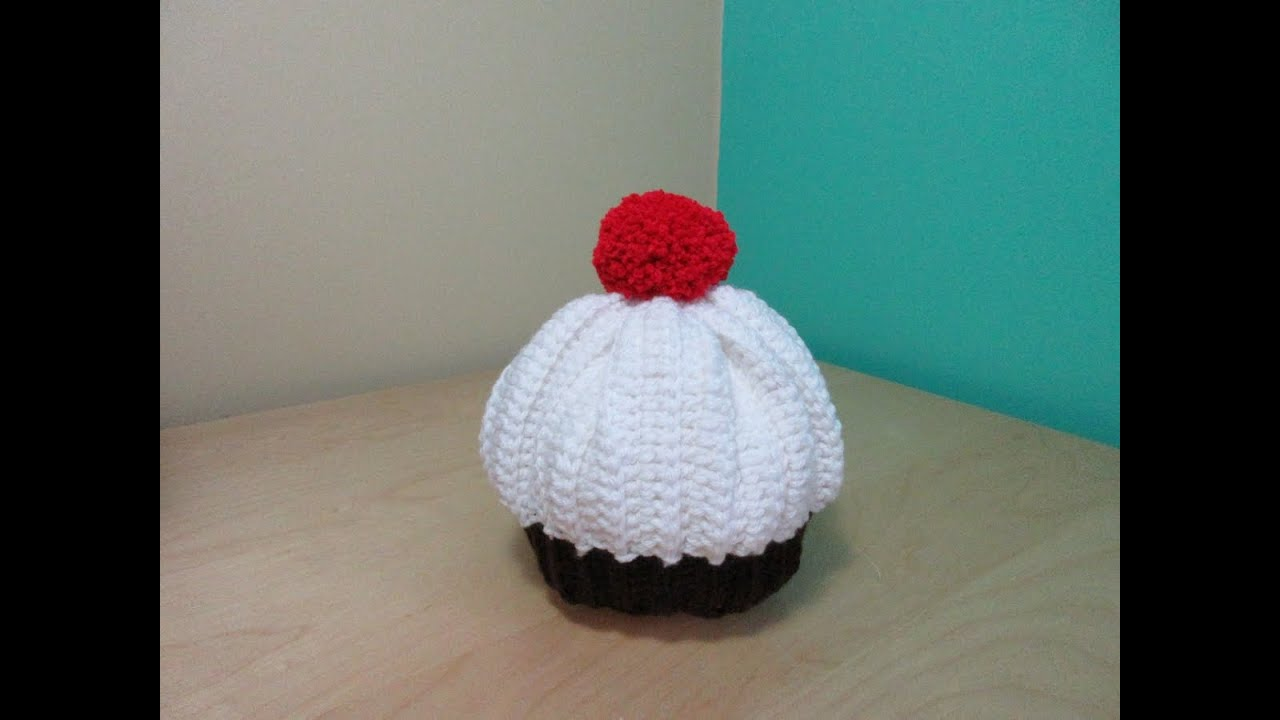 9466ae9a2af Crochet cupcake baby hat - Ruby Stedman - YouTube