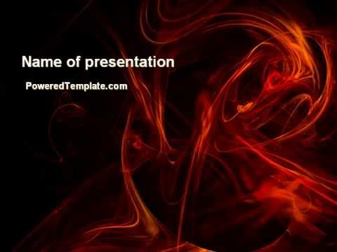 Red Smoke PowerPoint Template by PoweredTemplate - YouTube