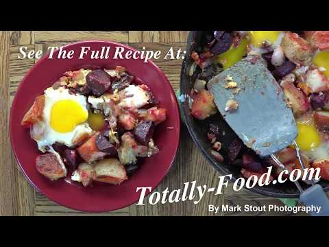 Healthy Beet Hash and Eggs Recipe