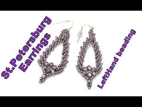 St Petersburg Earrings-Intermediate to Advanced lefthand beading tutorial