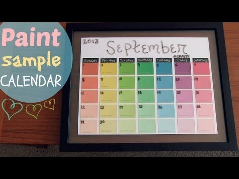 Paint Sample Calendar - How To - Dry Erase - Youtube