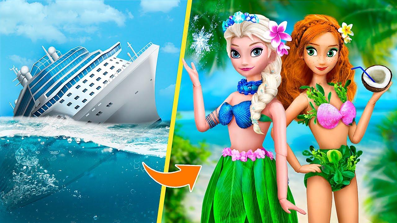 Disney Princesses on the Island / 11 Doll DIYs