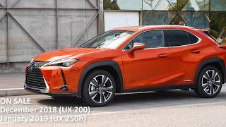 2019 Lexus UX 200 and UX 250h Specifications [Lastest News]