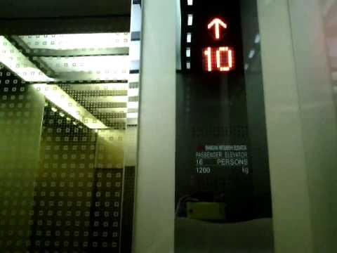 Shanghai Mitsubishi Traction Elevator At Grand Slipi Tower Jakarta