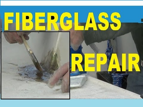 angle grinder ! REPAIR FIBERGLASS  secret is bevel cuts ~ diy fiberglass repair boats or cars