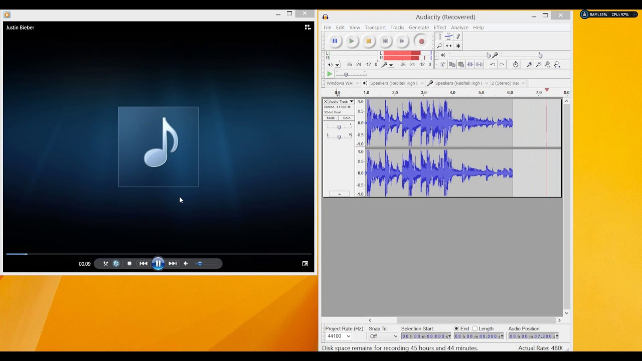 How to record sound from a computer 64