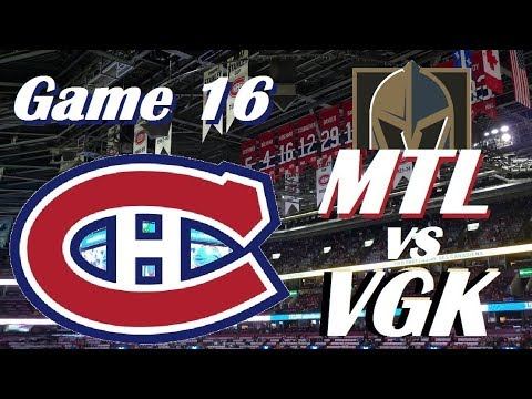 NHL - Montreal Canadiens vs Vegas Golden Knights - We're Going Streaking! - November 7, 2017