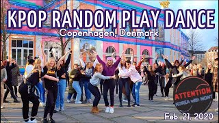 KPOP RANDOM PLAY DANCE IN PUBLIC at ATTENTION KOREA with M.O.N.T - COPENHAGEN, DENMARK 21/02/20