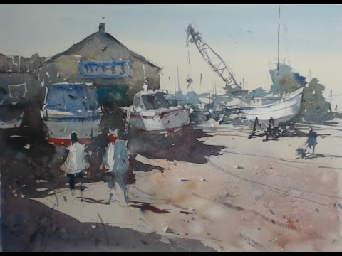 How to paint from a Google Street View image - a watercolour demonstration from Tim Wilmot #12