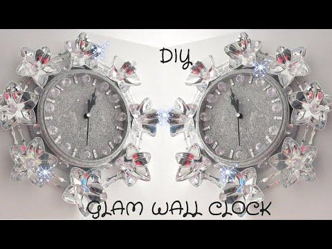 DIY DOLLARSTORE GLAM WALL CLOCK