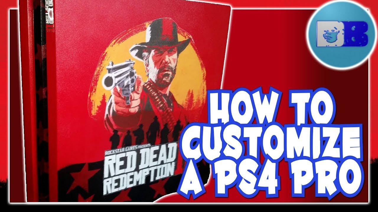 Red Dead Redemption 2 Playstation 4 Pro Custom Case Mod Tutorial