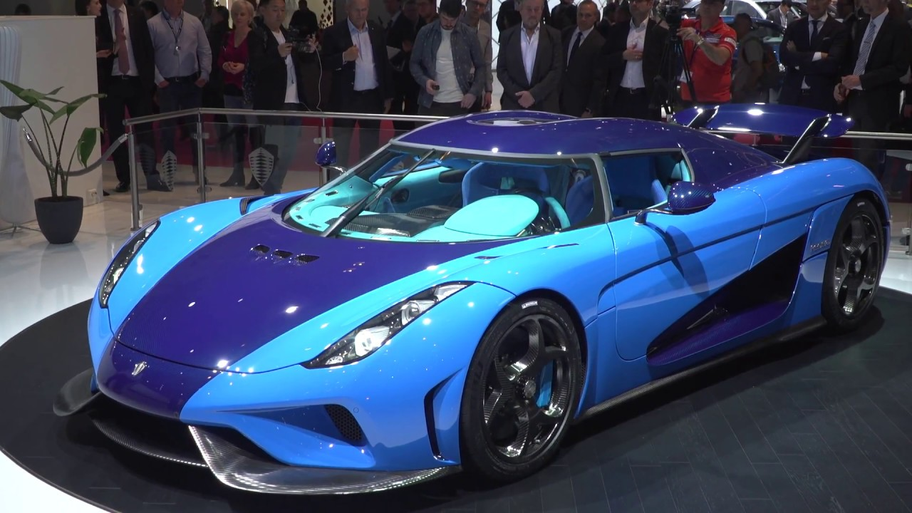 blue koenigsegg regera at geneva motor show youtube. Black Bedroom Furniture Sets. Home Design Ideas