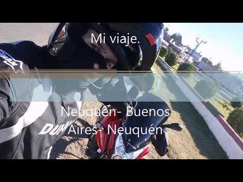 Mi viaje en moto. Neuquen-Buenos Aires. (Salon del automovil 2017)