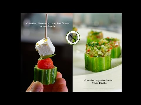 Easy Cucumber, Watermelon, Feta Appetizers – Bruno Albouze – THE REAL DEAL