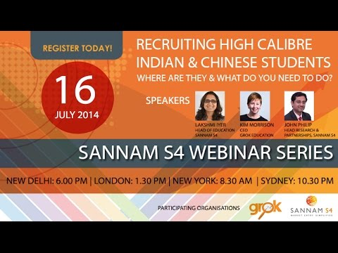 Webinar Recording: Recruiting High Calibre Indian & Chinese Students