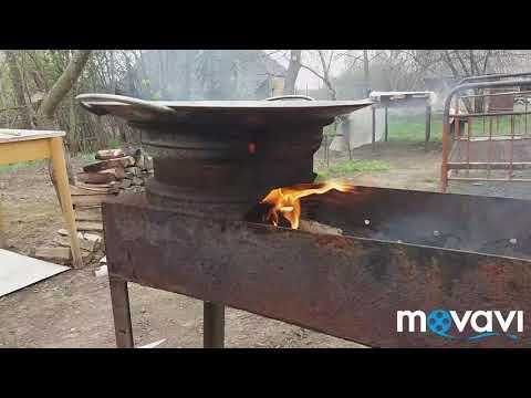 Как правильно обжеч сковороду из диска