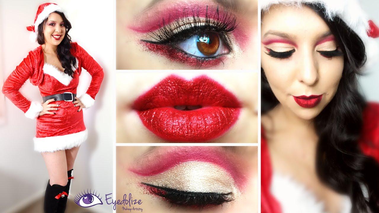 glitter santa christmas makeup tutorial by eyedolizemakeup - Christmas Elf Makeup