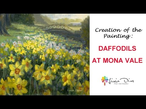 Painting Daffodils - Spring Flowers in Oil