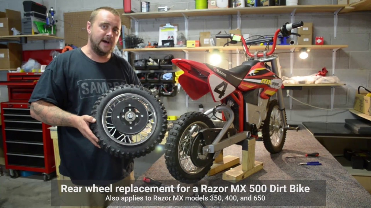 Razor Mx Dirtbike Rear Wheel Repair 350 400 500 650 Youtube Wiring Diagram