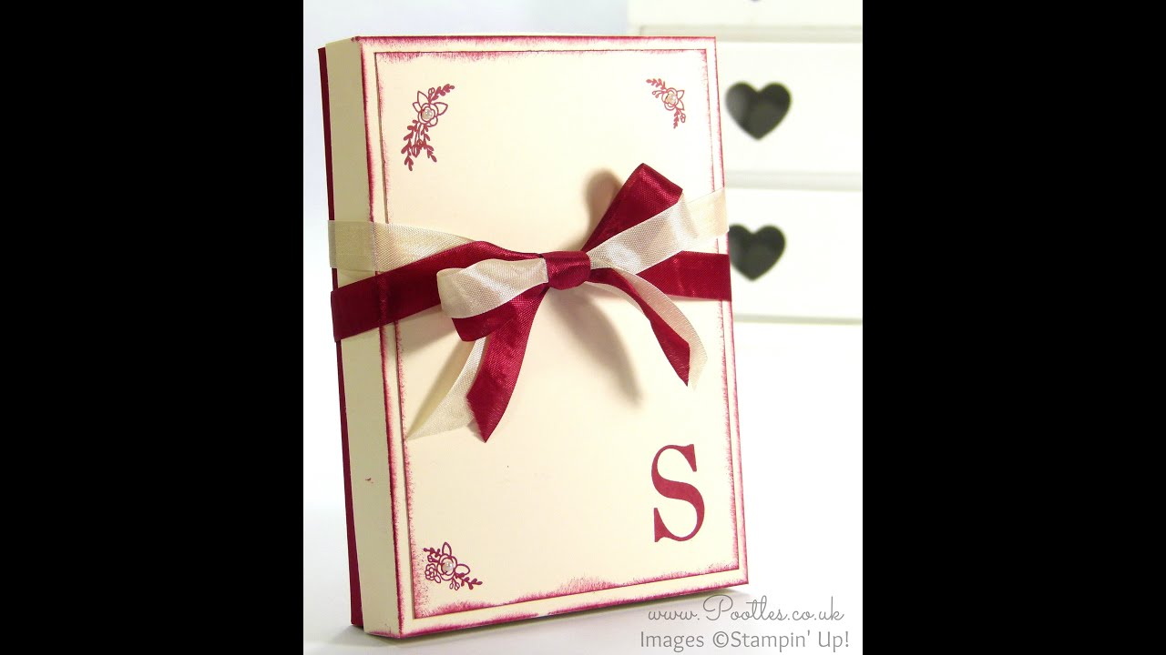 Stampin up sophisticated serifs note card box tutorial youtube kristyandbryce Images