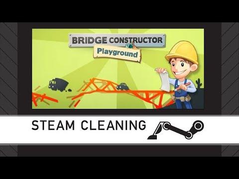 Steam Cleaning - Bridge Constructor Playground |