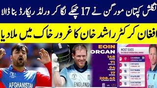 मॉर्गन बनाम राशिद खान मॉर्गन का विश्व recorde राशिद खान का गंडा recorde आईसीसी विश्व कप 2019