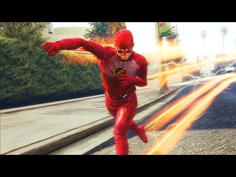 GTA 5 - THE FLASH MOD! MOST ULTIMATE FLASH SUPERHERO MOD (GTA 5 Mod Showcase)