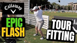 Callaway Epic Flash Driver Fitting - On The Range At The HSBC Abu Dhabi Champs