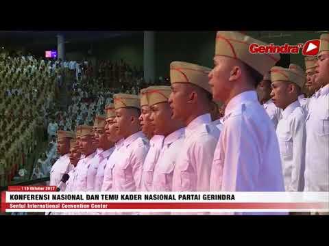 Konferensi Nasional dan Temu Kader Partai Gerindra di gedung Sentul International Convention Center