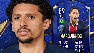 HIGHEST RATED LIGUE 1 CB! 89 TOTY HONOURABLE MARQUINHOS PLAYER REVIEW - FIFA 21 ULTIMATE TEAM