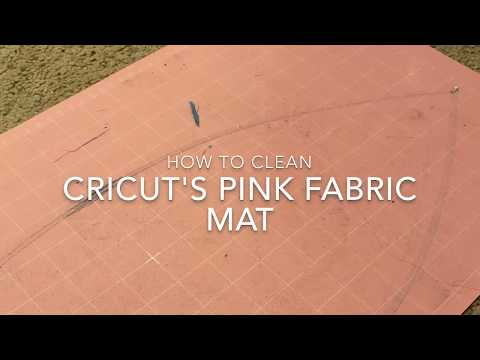 How To Clean Cricut Pink Fabric Mat